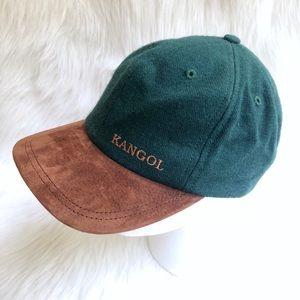 Kangol Vintage Green Wool Brown Suede Cap